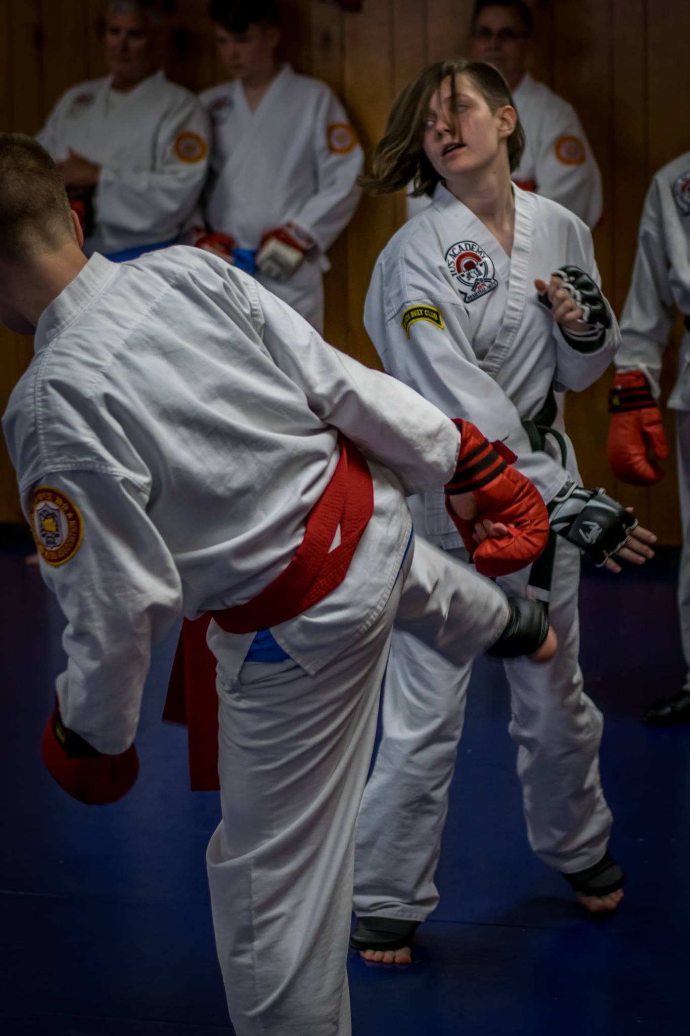 Dani and Kyle sparring in May 2017 Testing