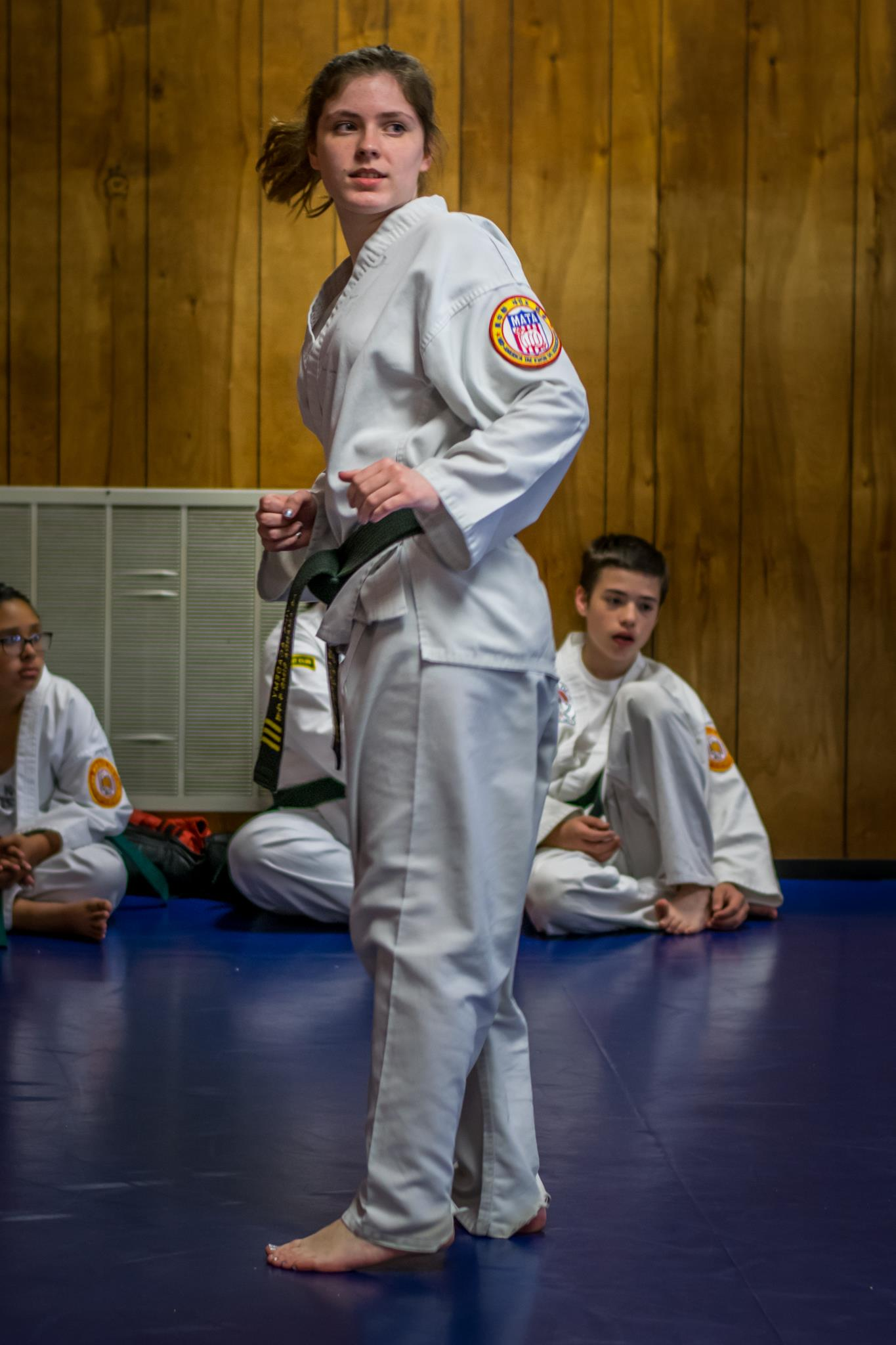 Amanda preparing for Kick in May 2017 Testing