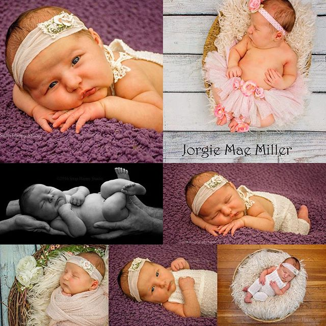 Love this little lady! #newbornphotography #snaphappystudio