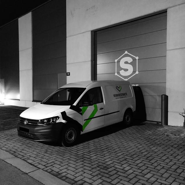 medium bestickering kleine bestelwagen