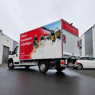 full wrap op vrachtwagen