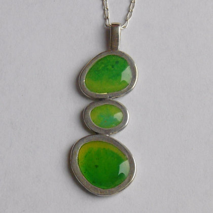 Lime Pebble Pendant