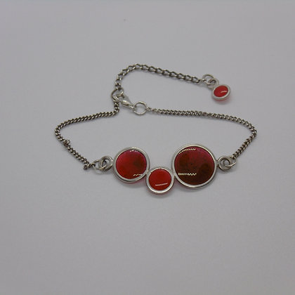 Crimson Bubble Bracelet