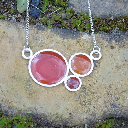 Hot oranges bubble necklace