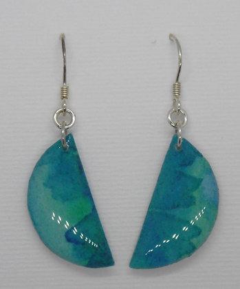 Watercolour collection semi circle earrings