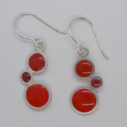 Pebble Earrings in sizzling reds