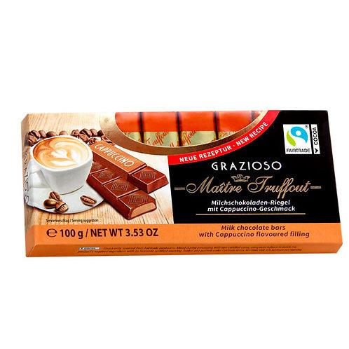 BARRAS DE CHOCOLATE RELLENO CON CREMA DE CAPUCCINO - MAITRE TRUFFOUT 100 gr