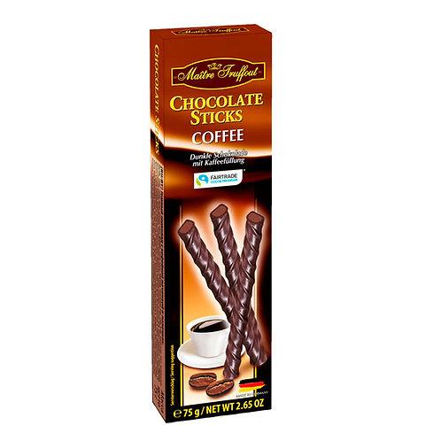 BARQUILLOS DE CHOCOLATE NEGRO CON CAFÉ - MAITRE TRUFFOUT 75 gr.