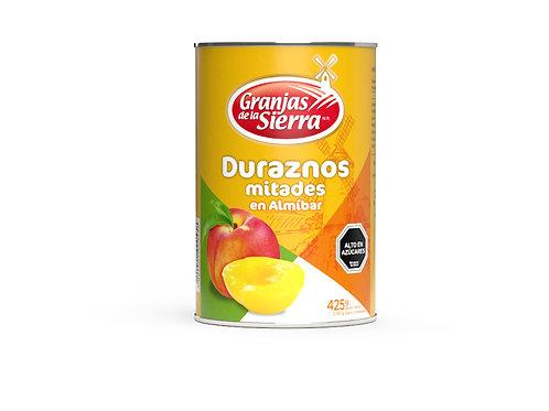 TARRO DURAZNOS EN MITADES GRANJAS DE LA SIERRA 425 gr.