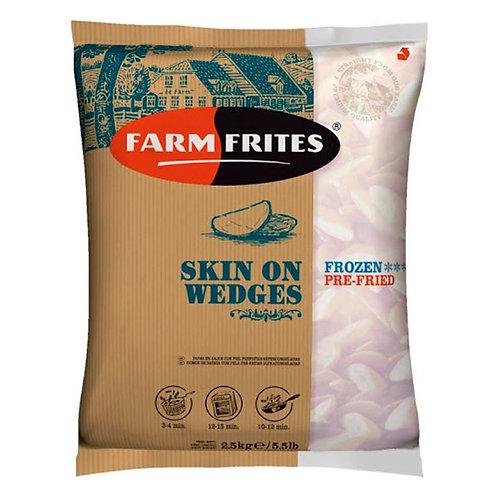 PAPAS RÚSTICAS EN GAJOS - FARM FRITES 2,5 kg.