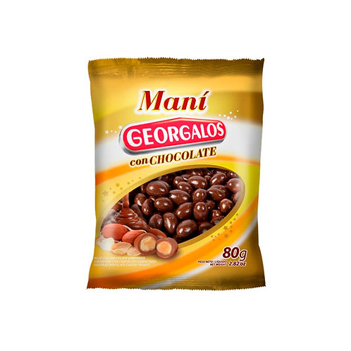 MANÍ CON CHOCOLATE - GEORGALOS 80 gr.