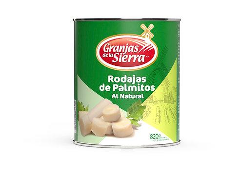 TARRO RODAJAS DE PALMITOS GRANJAS DE LA SIERRA 820 gr.