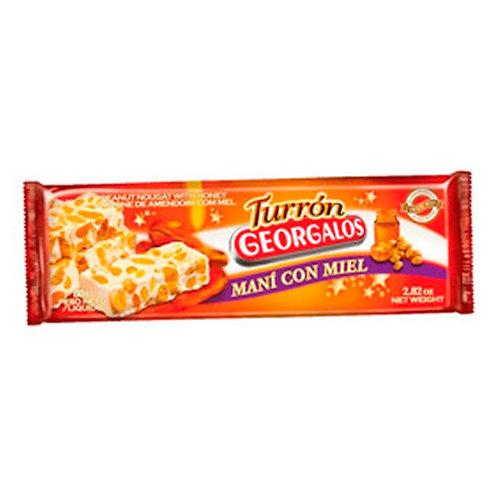 TURRÓN DE MANÍ CON MIEL - GEORGALOS 90 gr.