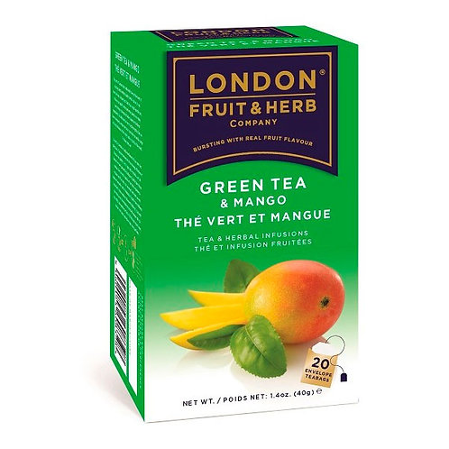 TÉ VERDE CON MANGO LONDON 40 gr.