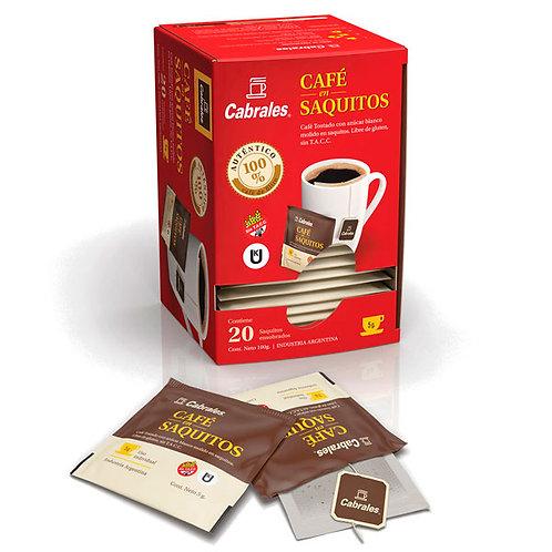 CAFÉ EN SAQUITOS CABRALES 100gr 20u