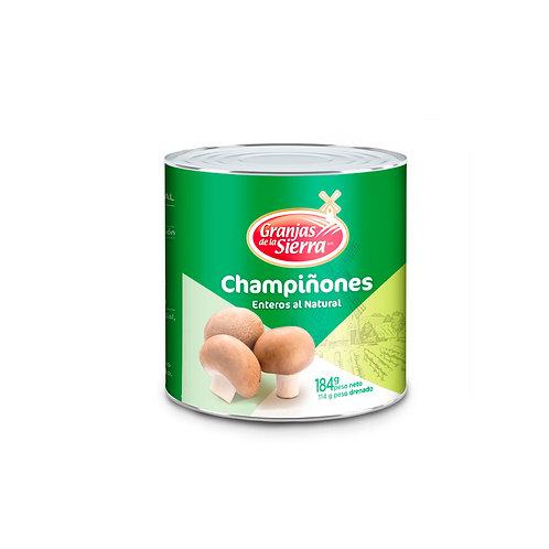 TARRO CHAMPIÑONES ENTEROS GRANJAS DE LA SIERRA 184 gr.