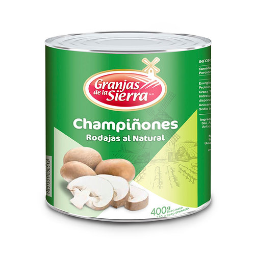 TARRO CHAMPIÑONES ENTEROS GRANJAS DE LA SIERRA 400 gr.