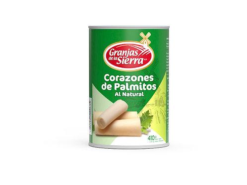 TARRO CORAZONES DE PALMITO GRANJAS DE LA SIERRA 410 gr.