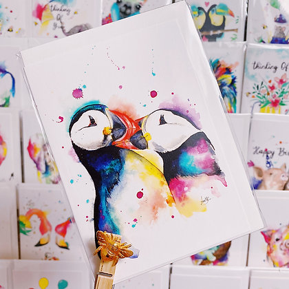 Greetings cards - Puffin Love