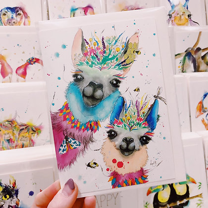 Greetings Cards - Luscious Lama's