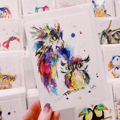 copy of Greetings card - Wise Owls