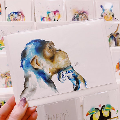 Greetings cards - Thinking Monkey