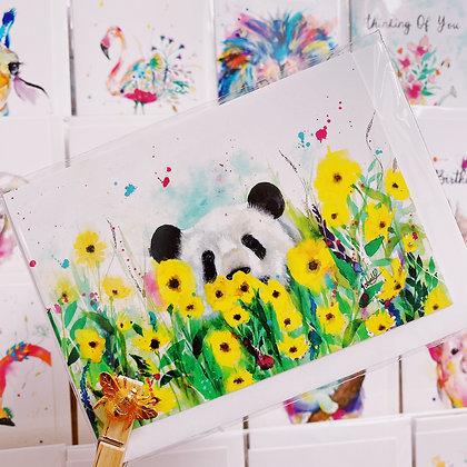 Greetings card - Panda