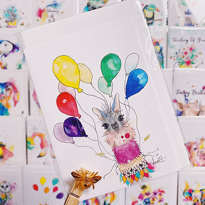 Greetings card - Birthday Llama