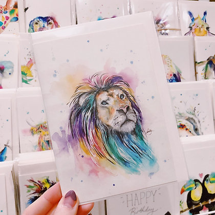 Greetings card - Lion