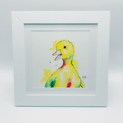 Dotty Duck Limited Edition Print - Square Frame