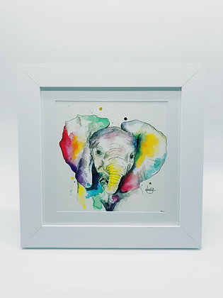 Ellie the Elephant Limited Edition Print - Square Frame