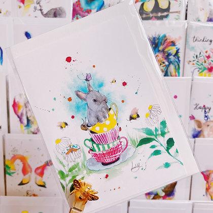 Greetings card - Teacup Bunny