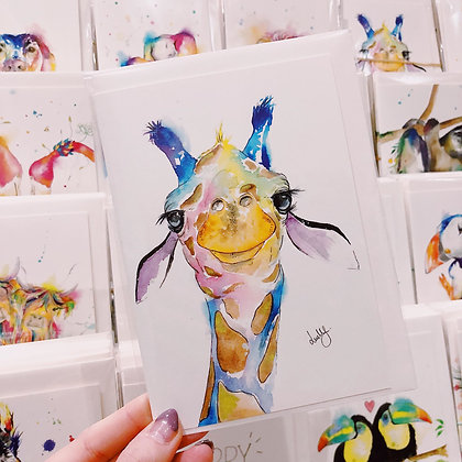 Greetings Cards - Gorgeous Giraffe
