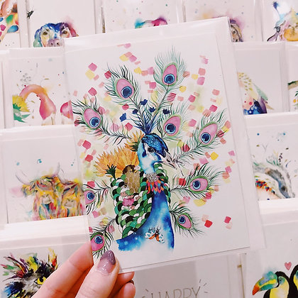 Greetings Cards - Pretty Peacock