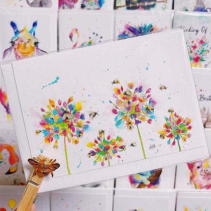 Greetings card - Blossoming Honey Bees 1