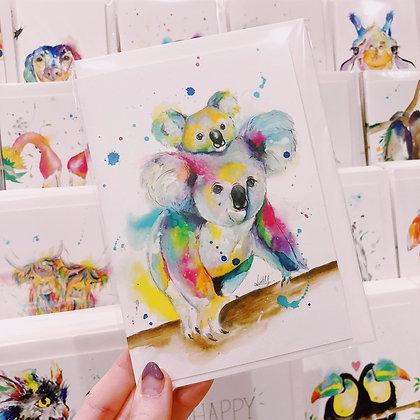 Greetings card - Koala Mummy