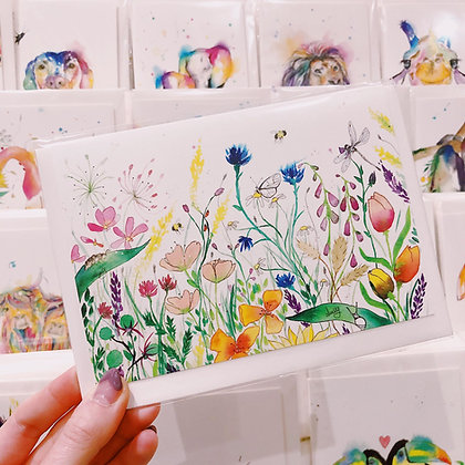 Greetings card - Flower Garden