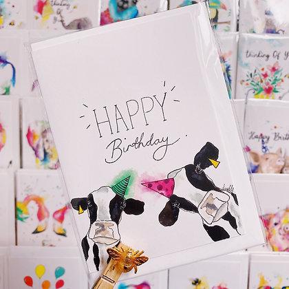 Greetings card - Birthday Cows