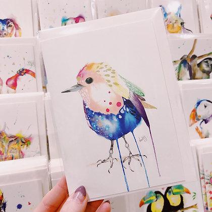 Greetings card - Robin