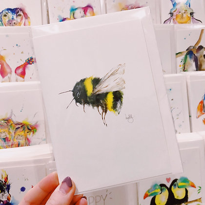 Greetings card - Bumble Bee