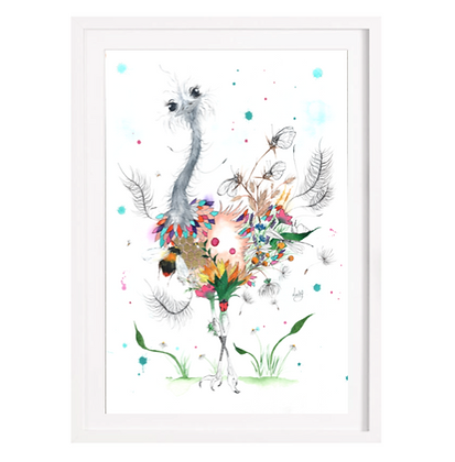 Ostrich Limited Edition Print (Unframed)
