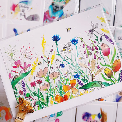 Greetings card - Flower Garden