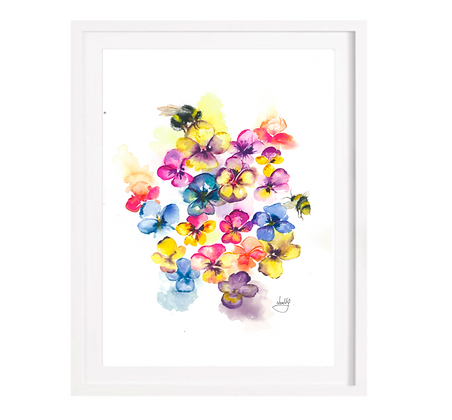 Pansies - A3 (Unframed)