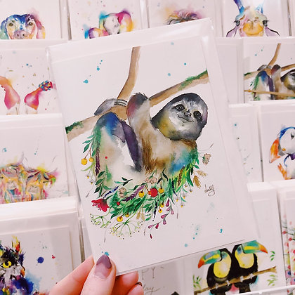 Greetings cards - Sloth