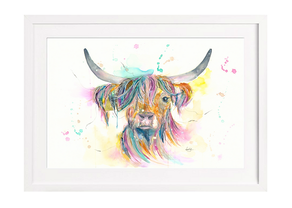Colourful Highland A3 and A4 (Unframed)