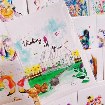 Greetings card - Greenhouse