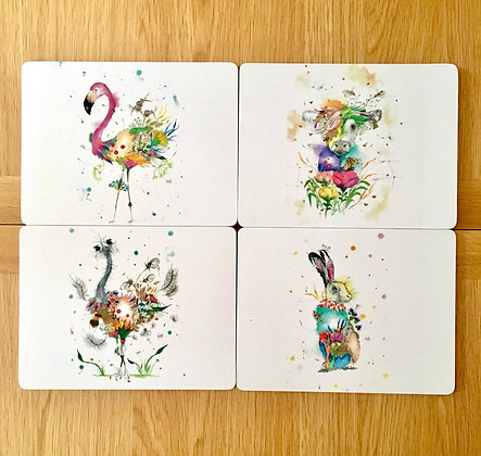 Place Mats - Animal Designs - Pack of 4