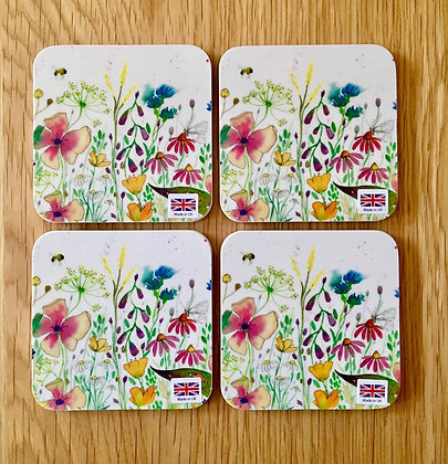 Coasters - Pack of 4 - Wild Flowers