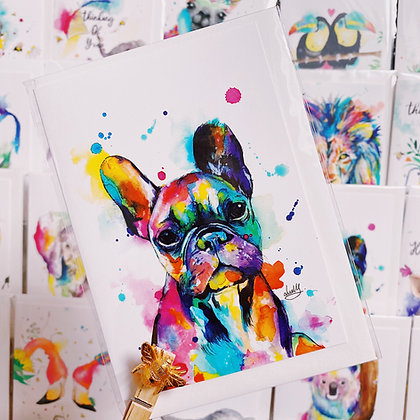 Greetings card -French Bulldog