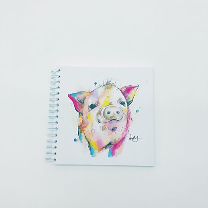 Small Square Spiral Notepad